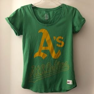 Nike Cooperstown Oakland A's Tee